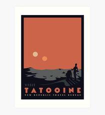 Besuche Tatooine Kunstdruck