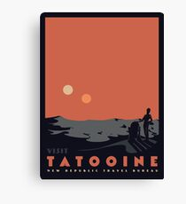 Visit Tatooine Canvas Print