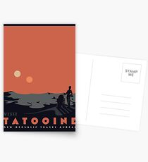 Besuche Tatooine Postkarten
