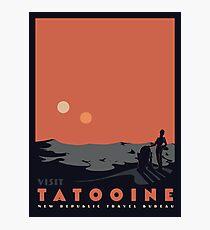 Besuche Tatooine Fotodruck