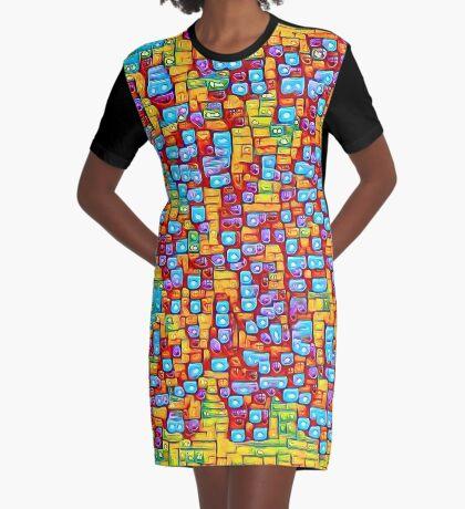 SkyBlue 22% Graphic T-Shirt Dress