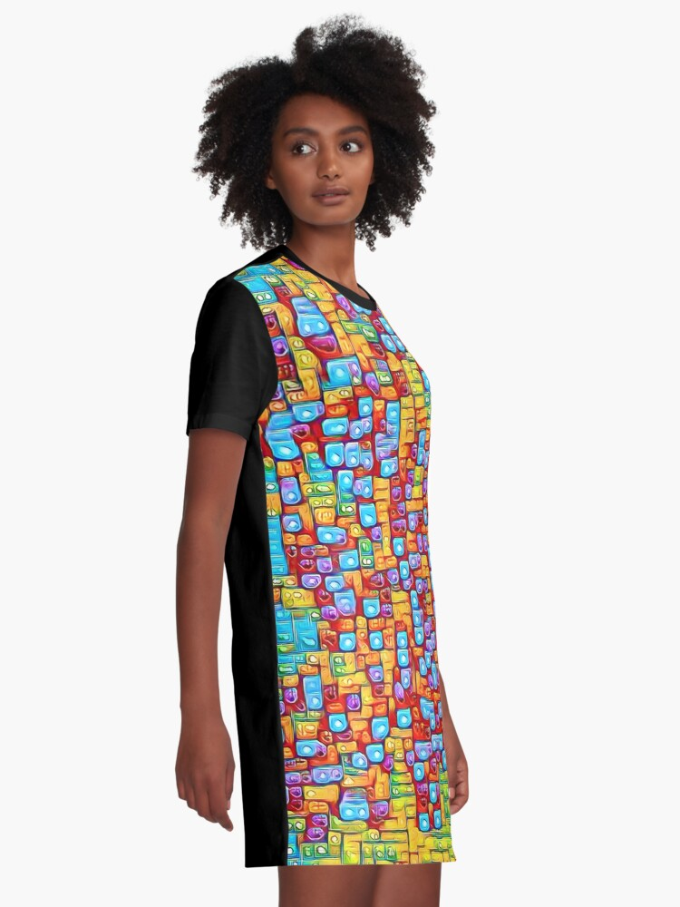 Alternate view of SkyBlue 22% Graphic T-Shirt Dress