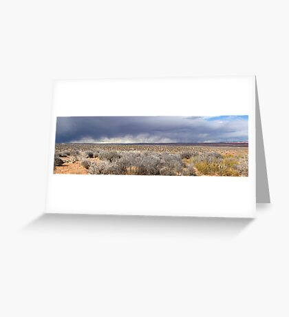 Storm front in Escalante, Utah Greeting Card