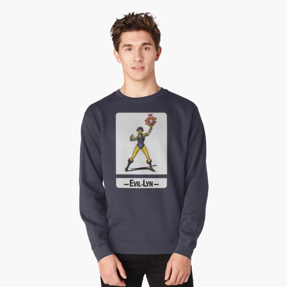 He-Man - Evil-Lyn - Trading Card Design Pullover Sweatshirt