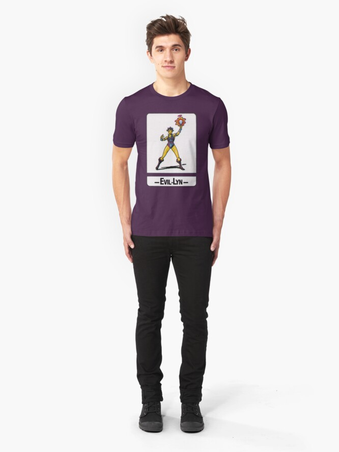 Alternate view of He-Man - Evil-Lyn - Trading Card Design Slim Fit T-Shirt