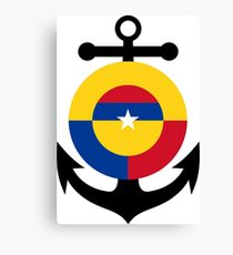 Roundel of the Colombian Naval Aviation  Canvas Print
