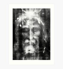 Shroud of Turin, Turin Shroud, Christianity, Christian, Icon, Bible, Biblical, Resurrection, Art Print