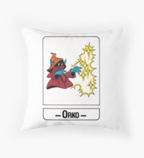 He-Man - Orko - Trading Card Design Throw Pillow