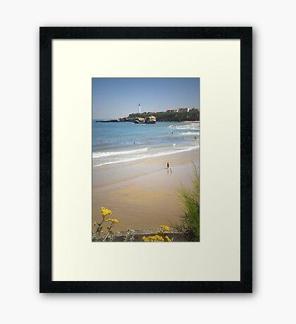 An afternoon at Biarritz beach Framed Print
