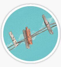 Boho Clothespin Sticker