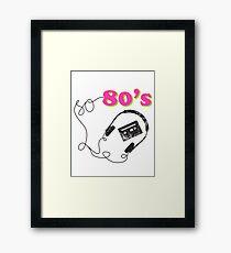 So 80s Framed Print