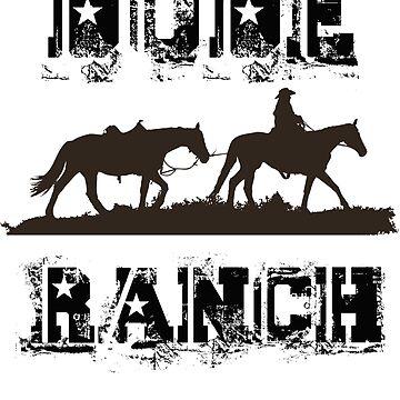 Dude Ranch Horse Rancher Men Women Kids Boys Girls  by CleverTshirtCo
