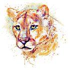 Cougar Head by Marian  Voicu