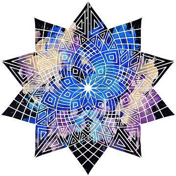 Blue Mandala by JuanBuel