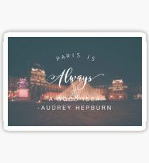 Paris Motto Sticker