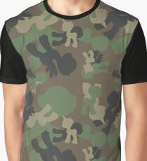 Brony Military Woodland Camo Graphic T-Shirt