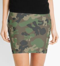 Brony Military Woodland Camo Mini Skirt
