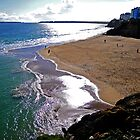 Castle Beach, Tenby, Pembrokeshire by Mark Haynes Photography