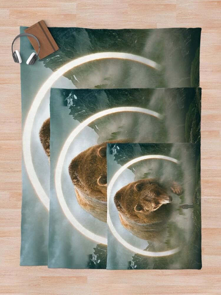 Alternate view of aegis   bear Throw Blanket