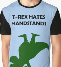 T-Rex Hates Handstands Graphic T-Shirt