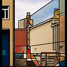 Off a Berlin Side Street by Zern Liew