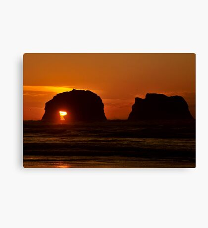 TWIN ROCKS OREGON Canvas Print