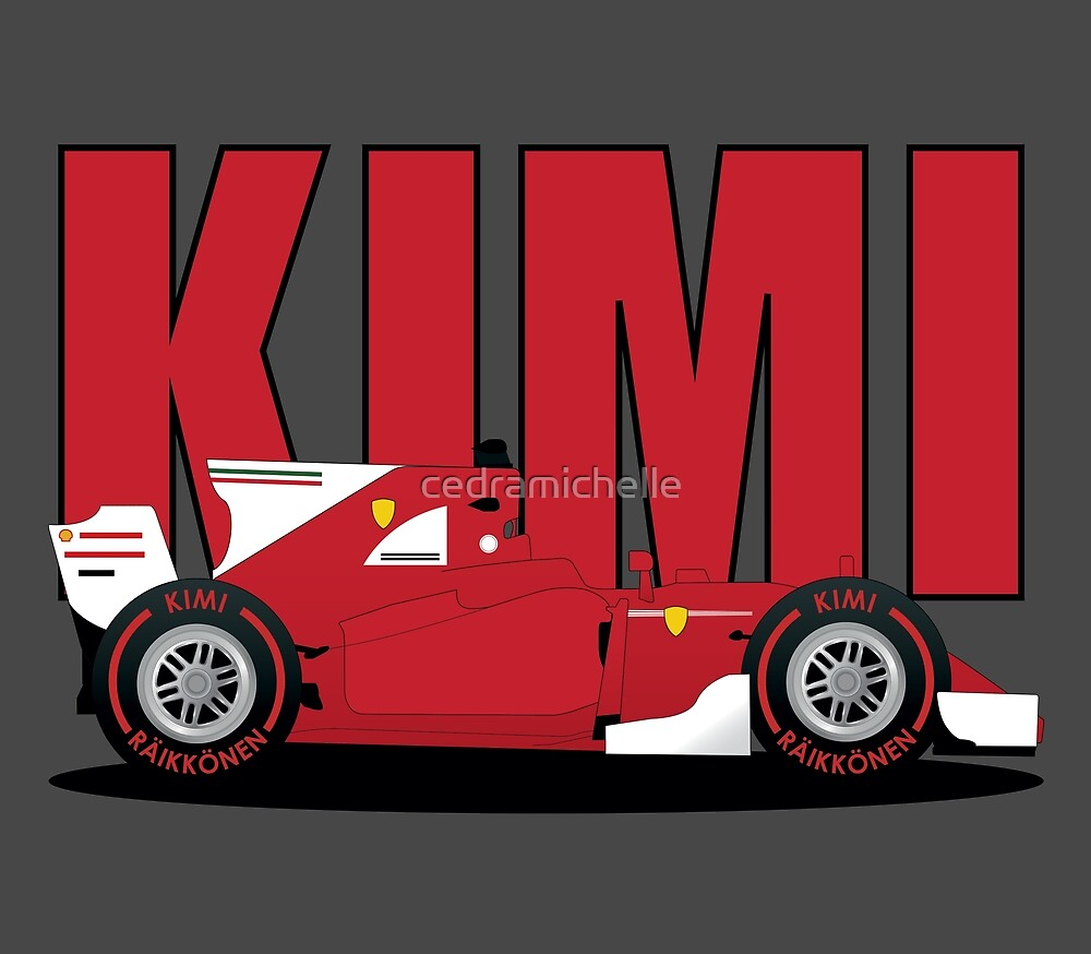 Kimi Squashed F1 car 2017 by cedramichelle