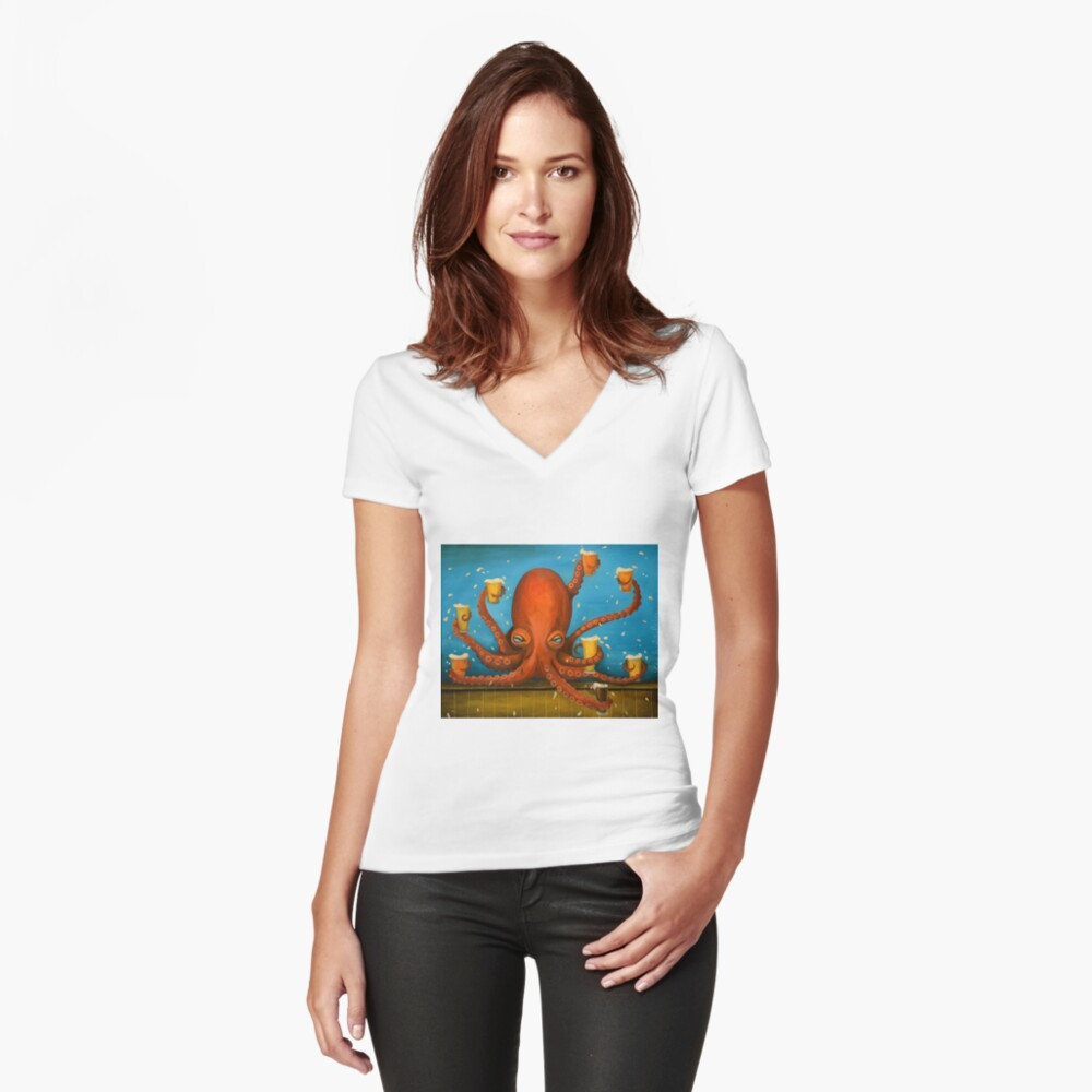 Life Of The Party Fitted V-Neck T-Shirt