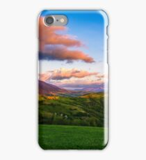 countryside landscape in mountains at sunset iPhone Case/Skin