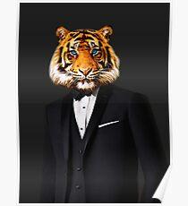 Tuxedo Tiger Poster