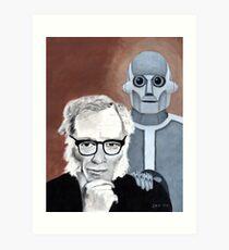 Asimov and His Robot Art Print