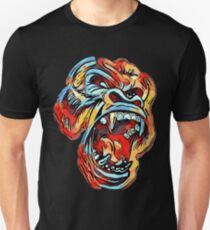 Dope Angry Gorilla - primary colors - ROAR T-Shirt