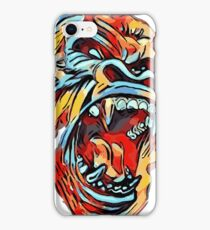 Dope Angry Gorilla - primary colors - ROAR iPhone Case/Skin
