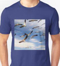 A Frenzy of Seagulls T-Shirt