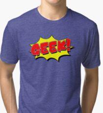 Geek, Nerd, Cartoon Shape Tri-blend T-Shirt
