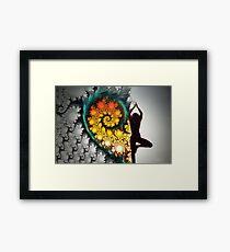 Heart Fractal Dance Framed Print