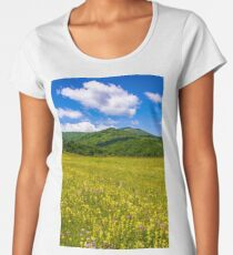 countryside summer landscape in mountains Women's Premium T-Shirt