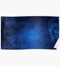 blue alien space dreams composite abstract background Poster