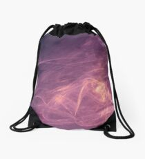 purple alien space dreams composite abstract background Drawstring Bag