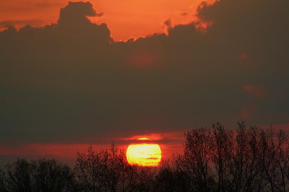 Sunrise Over Jackson Michigan by declown