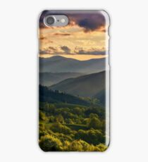 mountain rural area in springtime at cloudy sunset  iPhone Case/Skin