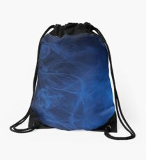 blue alien space dreams composite abstract background Drawstring Bag