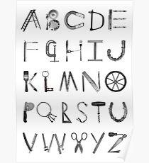 Object Alphabet Poster