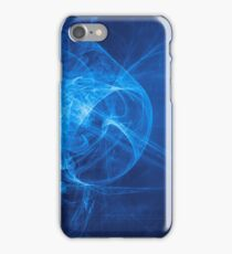 blue alien space dreams composite abstract background iPhone Case/Skin