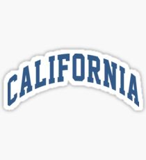 California Block Sticker