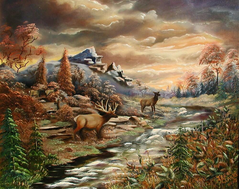 Elk Alert by Irene Clarke