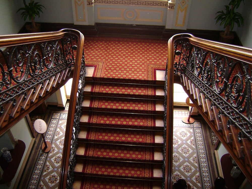 The amazing stairs at Werribee Mansion by VENUSC1