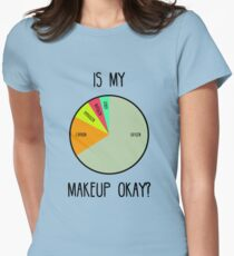 Is My Makeup Okay? Women's Fitted T-Shirt