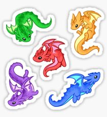 Gem Dragon Pattern Sticker