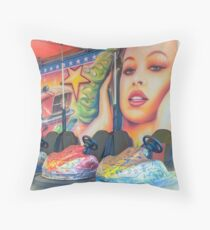 Fairground dodgems, Brighton Throw Pillow